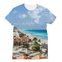 Cancun City On Beachside Sublimation T-Shirt S Apparel