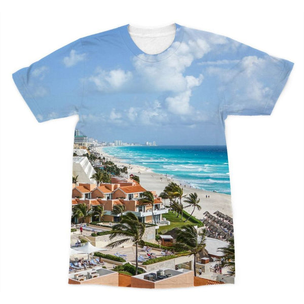 Cancun City On Beachside Sublimation T-Shirt Xs Apparel