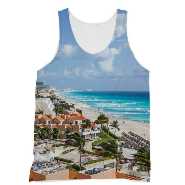 Cancun City On Beachside Sublimation Vest Xs Apparel