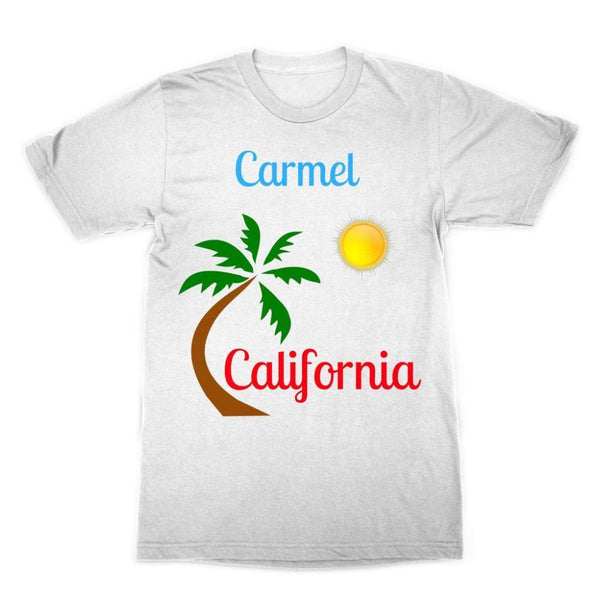 Carmel California Palm Sun Sublimation T-Shirt Xs Apparel