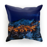 Castelmezzano Town Cushion Canvas / 12X12 Homeware