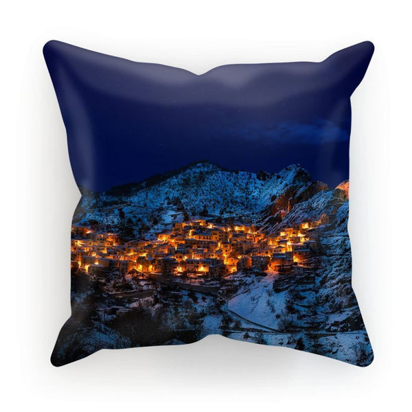 Castelmezzano Town Cushion Linen / 12X12 Homeware