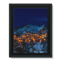Castelmezzano Town Framed Canvas 12X16 Wall Decor