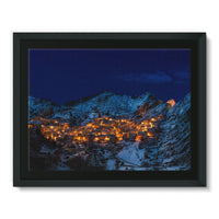 Castelmezzano Town Framed Canvas 16X12 Wall Decor