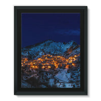 Castelmezzano Town Framed Eco-Canvas 11X14 Wall Decor