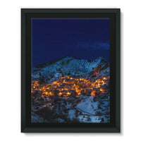 Castelmezzano Town Framed Eco-Canvas 18X24 Wall Decor