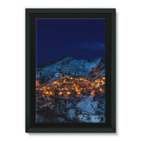 Castelmezzano Town Framed Eco-Canvas 24X36 Wall Decor