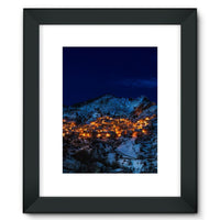 Castelmezzano Town Framed Fine Art Print 12X16 / Black Wall Decor
