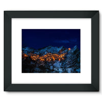 Castelmezzano Town Framed Fine Art Print 16X12 / Black Wall Decor