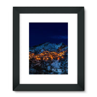 Castelmezzano Town Framed Fine Art Print 24X32 / Black Wall Decor