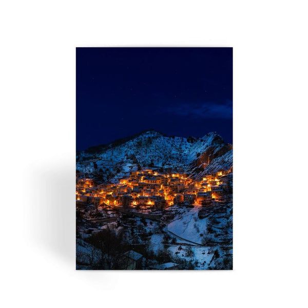 Castelmezzano Town Greeting Card 1 Prints