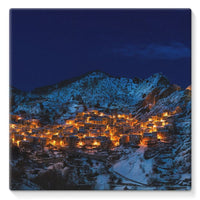 Castelmezzano Town Stretched Canvas 14X14 Wall Decor
