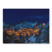 Castelmezzano Town Stretched Canvas 16X12 Wall Decor