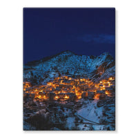 Castelmezzano Town Stretched Canvas 24X32 Wall Decor