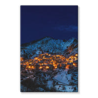 Castelmezzano Town Stretched Canvas 24X36 Wall Decor