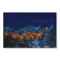 Castelmezzano Town Stretched Canvas 30X20 Wall Decor