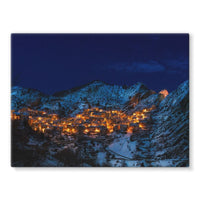 Castelmezzano Town Stretched Canvas 32X24 Wall Decor