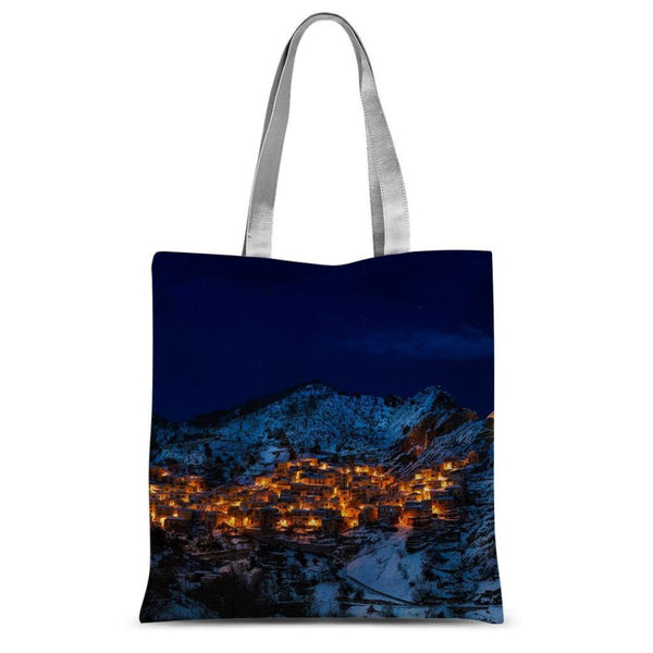 Castelmezzano Town Sublimation Tote Bag 15X16.5 Accessories