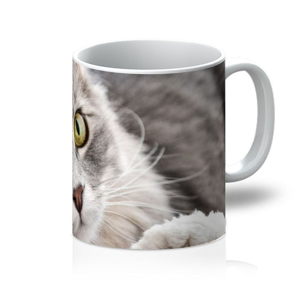 Cat Lying With Eyes Open Mug 11Oz Homeware