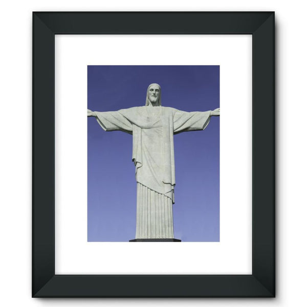 Christ The Redeemer Statue Framed Fine Art Print 12X16 / Black Wall Decor