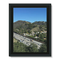 City In Mountains Highway Framed Canvas 12X16 Wall Decor