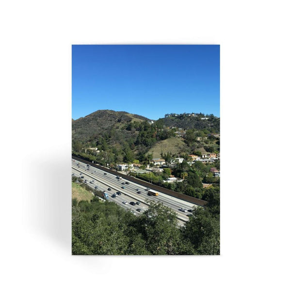 City In Mountains Highway Greeting Card 1 Prints