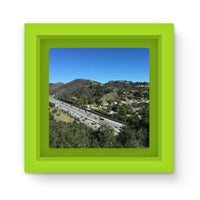 City In Mountains Highway Magnet Frame Green Homeware