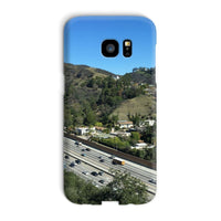 City In Mountains Highway Phone Case Galaxy S7 Edge / Snap Gloss & Tablet Cases
