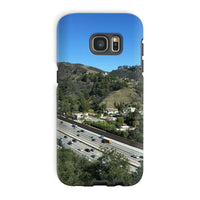 City In Mountains Highway Phone Case Galaxy S7 Edge / Tough Gloss & Tablet Cases