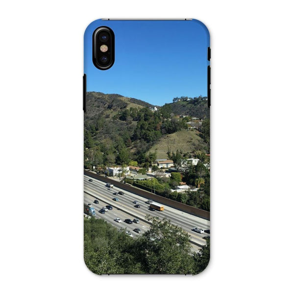City In Mountains Highway Phone Case Iphone X / Snap Gloss & Tablet Cases