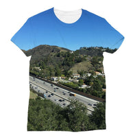 City In Mountains Highway Sublimation T-Shirt Xs Apparel