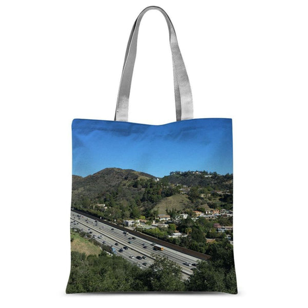 City In Mountains Highway Sublimation Tote Bag 15X16.5 Accessories