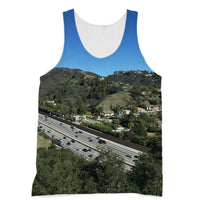 City In Mountains Highway Sublimation Vest Xs Apparel