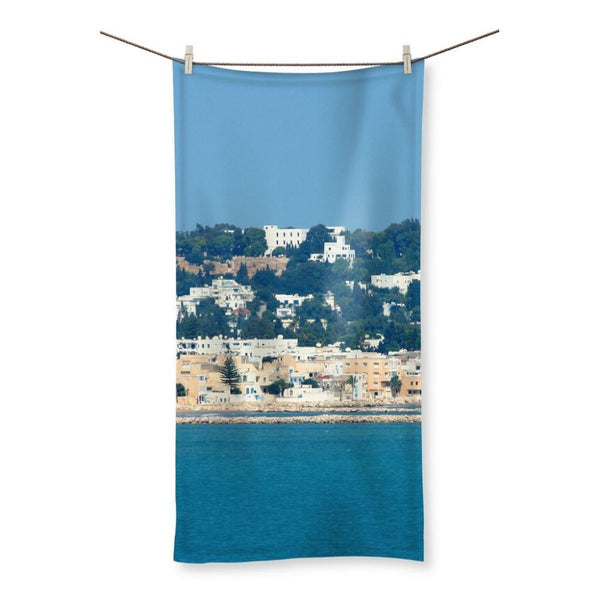 City Of Tunis From The Sea Beach Towel 19.7X39.4 Homeware