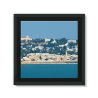 City Of Tunis From The Sea Framed Canvas 12X12 Wall Decor