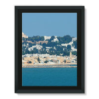 City Of Tunis From The Sea Framed Canvas 12X16 Wall Decor