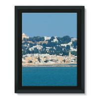 City Of Tunis From The Sea Framed Canvas 18X24 Wall Decor
