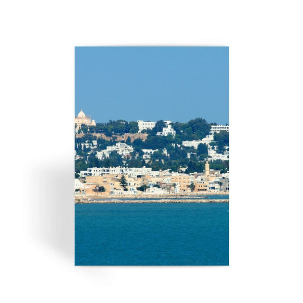 City Of Tunis From The Sea Greeting Card 1 Prints