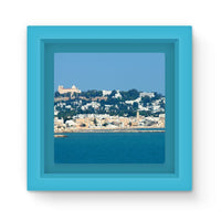 City Of Tunis From The Sea Magnet Frame Light Blue Homeware