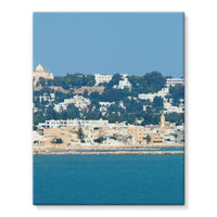 City Of Tunis From The Sea Stretched Eco-Canvas 11X14 Wall Decor