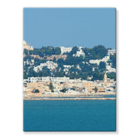 City Of Tunis From The Sea Stretched Eco-Canvas 18X24 Wall Decor