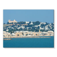 City Of Tunis From The Sea Stretched Eco-Canvas 24X18 Wall Decor
