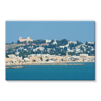 City Of Tunis From The Sea Stretched Eco-Canvas 30X20 Wall Decor
