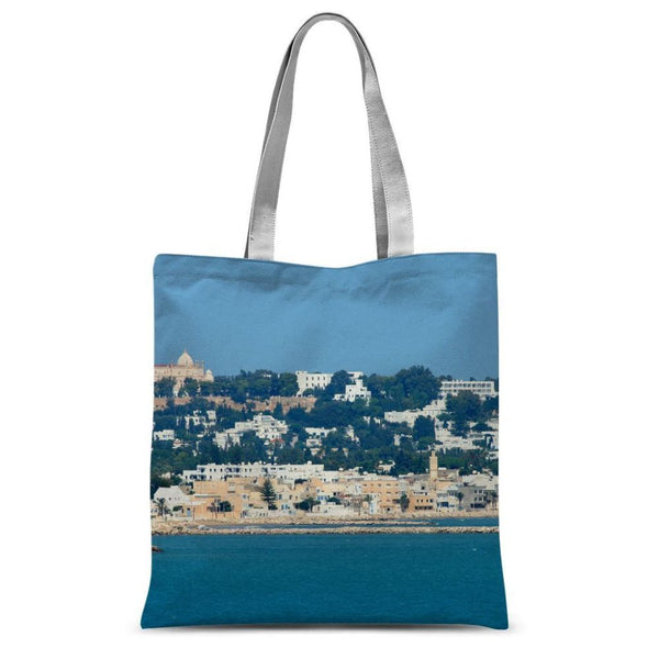 City Of Tunis From The Sea Sublimation Tote Bag 15X16.5 Accessories
