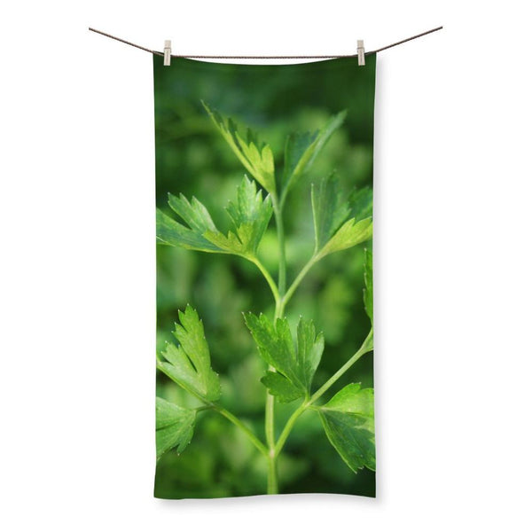 Close Picture Of Parsley Beach Towel 19.7X39.4 Homeware