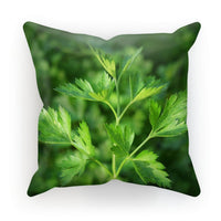 Close Picture Of Parsley Cushion Faux Suede / 18X18 Homeware