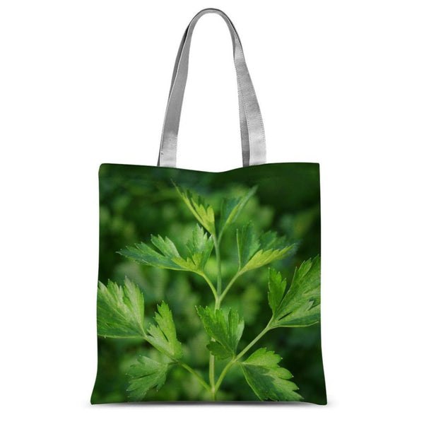 Close Picture Of Parsley Sublimation Tote Bag 15X16.5 Accessories