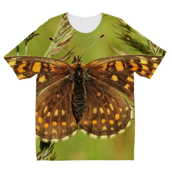 Close Up Of A Colourful Moth Kids Sublimation T-Shirt 3-4 Years Apparel
