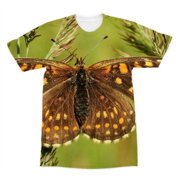 Close Up Of A Colourful Moth Sublimation T-Shirt Xs Apparel