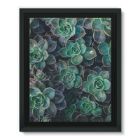 Close-Up Of Green Flowers Framed Eco-Canvas 11X14 Wall Decor